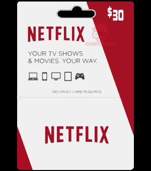 Netflix Gift Card US – USD30